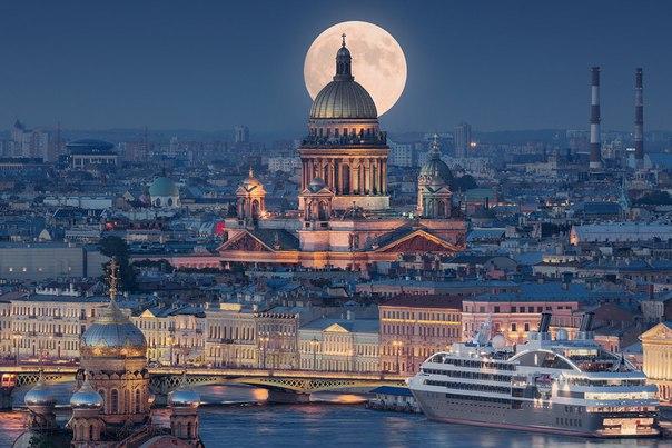 Суперлуние в Петербурге - Луна в перигее